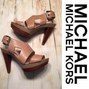 Michael Kors Platform High Heeled Sandals Size 7.5